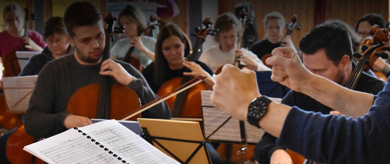 konzentrierte Orchesterproben
