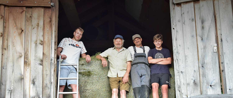 Berghof Agatharied, die Männer der Hofer-Familie