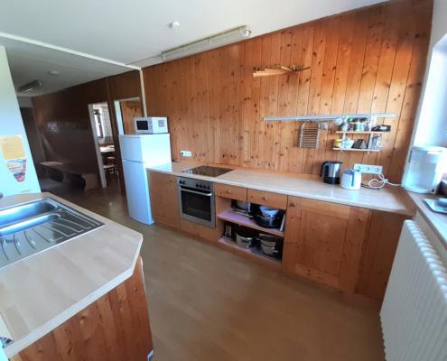 Die Küche im Selbstversorgerhaus