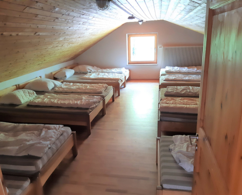 Das Bettenlager im Selbstversorgerhaus