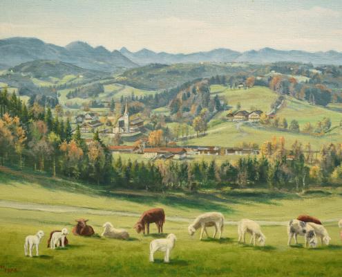 Kunst am Berghof - Landschaftsbild von Josef Stallhofer