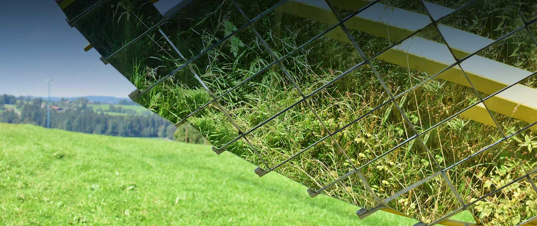 Lichtreflexe im Scheffler-Solar-Spiegel