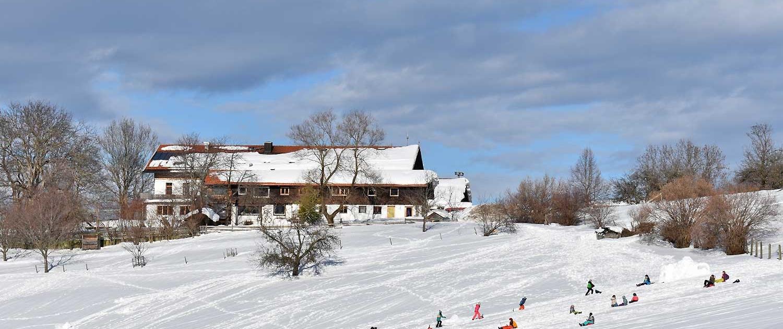 Schlittenberg am Jugenhaus Berghof