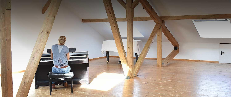 Jugendhaus Agatharied: Proben im Atelier mit viel Tageslicht