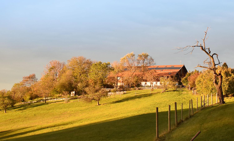Abendsonne am Jugendhaus in Agatharied