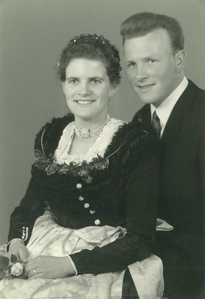 Hochzeitsbild von Margret und Martin Hofer 1964