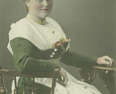 Regina Zugliani als junge Frau