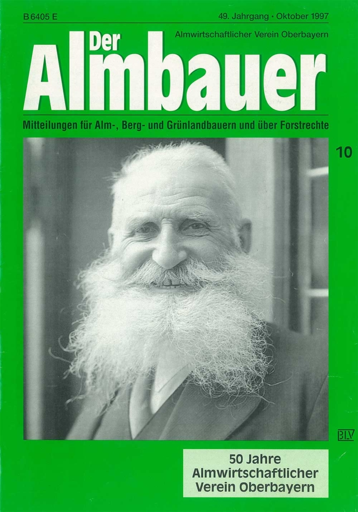 Titelblatt der Almbauer - 10/1997